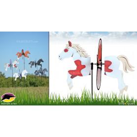 Éolienne décorative Cheval Pinto 48cm