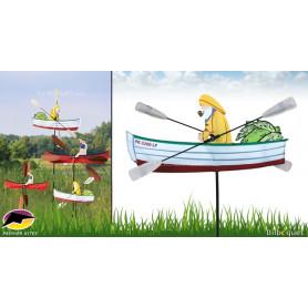 Éolienne décorative WhirliGig Pêcheur 45cm