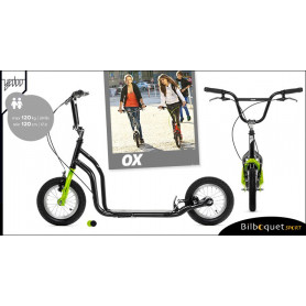 OX II Trottinette Fun pour ados/adultes - BLACK/GREEN
