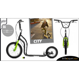 City II trottinette ado/adulte 12+ - BLACK/GREEN