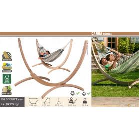 Canoa - Support en bois pour hamac double