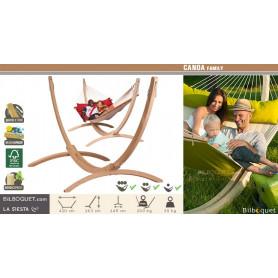 Canoa - Support en bois pour hamac familial