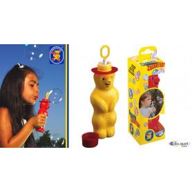 L'ours magique à bulles de savon