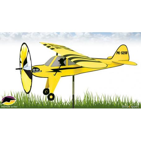 Éolienne de jardin Avion Premier Cub 53x68cm