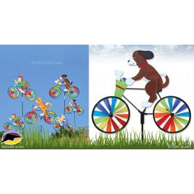 Éolienne bicyclette Chien Puppy 50x39cm