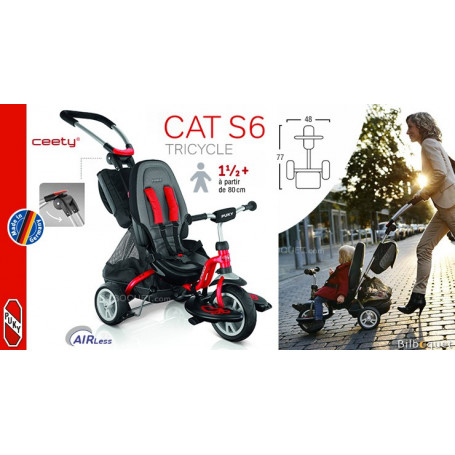 Tricycle Puky CAT S6 Ceety® - Rouge - Dès 18 mois