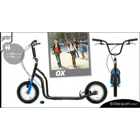 OX II Trottinette Fun pour ados/adultes - BLACK/BLUE