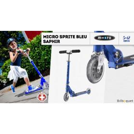 Micro Sprite Bleu Saphir - Trottinette 5-12 ans