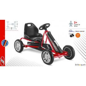 Go-Kart à pédales F20 - rouge