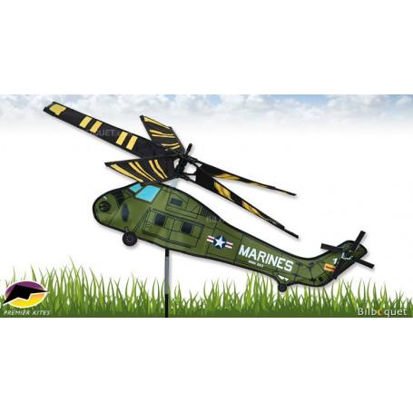 Éolienne de jardin Hélicoptère UH-34 Marine