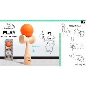 Kendama Play Monster Grip K - Orange
