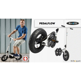 Micro Pedalflow Trottinette adulte - Blanc