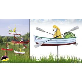 Éolienne décorative WhirliGig Pêcheur 60cm
