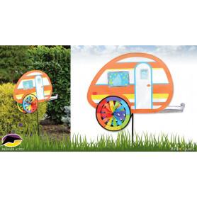 Éolienne Caravane Teardrop - Décoration de jardin