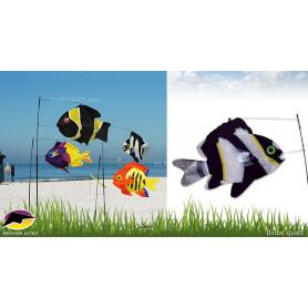 Swimming Fish Poisson Noir et Blanc Déco d'extérieur