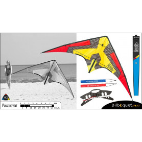HQ Ion - Cerf-volant pilotable polyvalent/freestyle