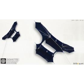 Cerf-volant Cody Noir 240 cm