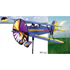 Eolienne avion Biplan 68x92cm