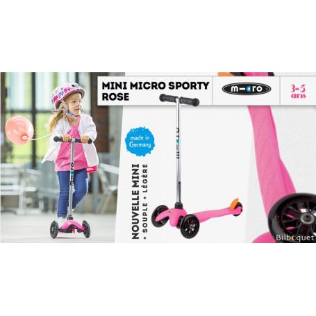 Mini Micro Sporty Rose - Trottinette 3-5 ans