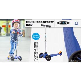 Mini Micro Sporty Bleu - Trottinette 3-5 ans